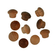 1/4 inch Button Top Wood Plugs