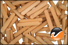 Multi-Groove WIDGETCO 1//4 x 1-3//4 Wood Dowel Pins