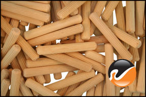wood dowel pins 1 4 x 1 3 4 multi groove widgetco