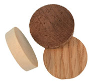1 inch Flat Top Wood Plugs