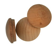 1 inch Button Top Wood Plugs
