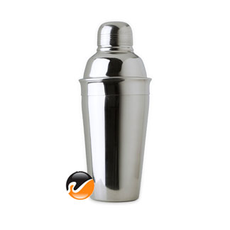 16 ounce Cocktail Shaker, 3 piece Stainless