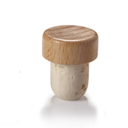 19.5mm Natural T-Corks with Wood Tops