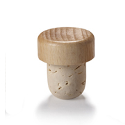20.5mm Natural T-Corks with Wood Tops