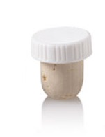 20.5mm Natural T-Corks with White Tops