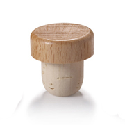 22.5mm Natural T-Corks with Wood Tops