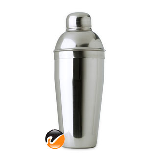 24 ounce Cocktail Shaker, 3 piece Stainless