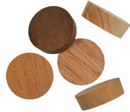 3/4 inch Face Grain Wood Plugs