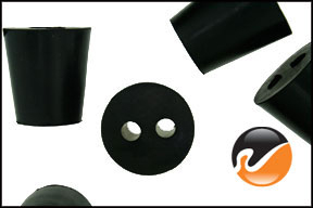 #3 Rubber Stoppers with 2-holes