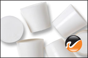 #4 White Silicone Rubber Stoppers
