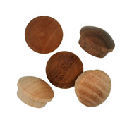 5/8 inch Button Top Wood Plugs