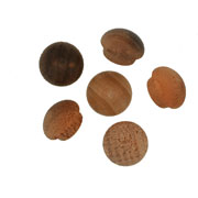 7/16 inch Button Top Wood Plugs