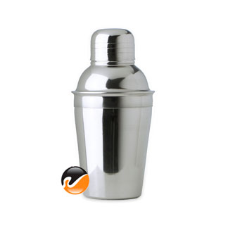 8 ounce Cocktail Shaker, 3 piece Stainless