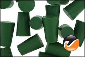 #0 Green Neoprene Rubber Stoppers