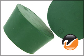 #10 Green Neoprene Rubber Stoppers