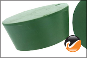 #12 Green Neoprene Rubber Stoppers