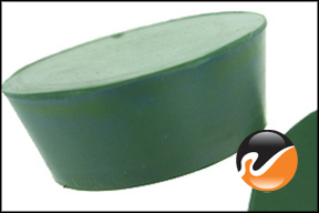 #13 Green Neoprene Rubber Stoppers