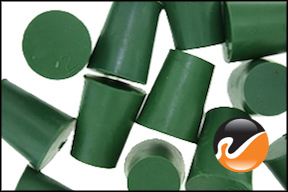 #2 Green Neoprene Rubber Stoppers