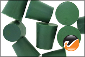 #3 Green Neoprene Rubber Stoppers