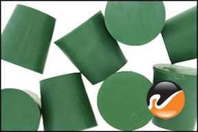 #4 Green Neoprene Rubber Stoppers