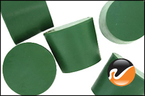 #6 Green Neoprene Rubber Stoppers