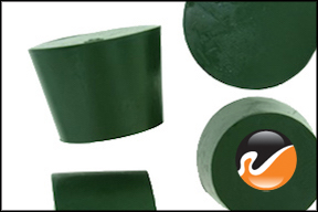 #7 Green Neoprene Rubber Stoppers