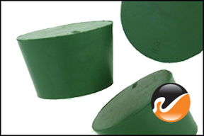 #8 Green Neoprene Rubber Stoppers