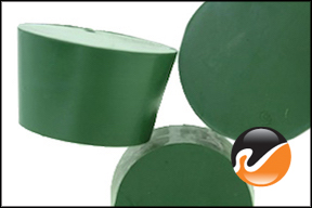 #9 Green Neoprene Rubber Stoppers